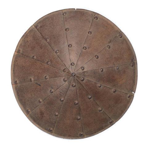 A russet iron jingasa 18th century