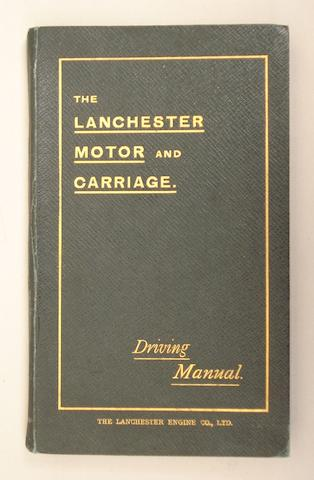 A 'Lanchester Motor and Carriage' driving manual,