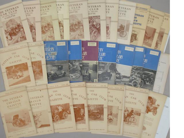 Veteran Car Club Gazette, 1939-1954,
