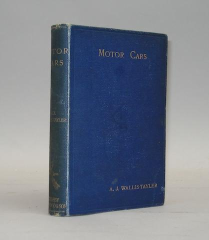 A J Wallis-Tayler: Motor Cars; April 1897,