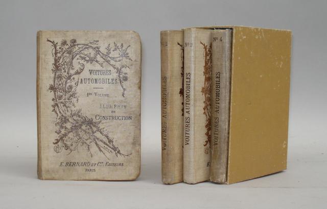 Traite de la Construction, de la Conduite et de l'Entretien des Voitures Automobiles; Volumes 1-4; 1898,