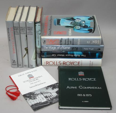 Nine Rolls-Royce books,