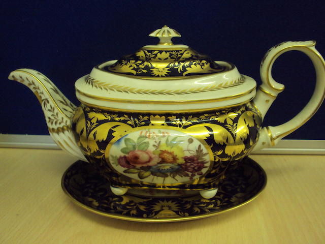 A Bloor Derby tea service