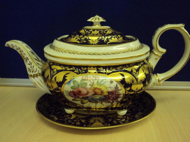 A Bloor Derby tea service