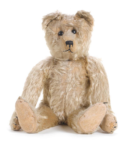 Brown mohair Teddy bear, German circa 1906