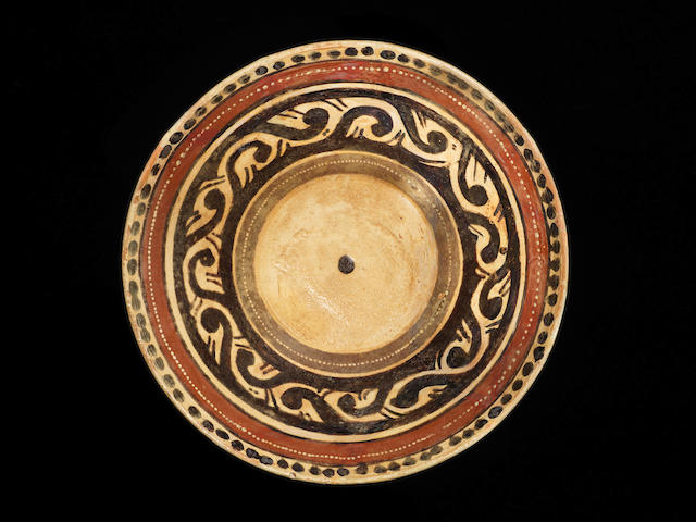 Two Samanid slip-painted pottery Bowls East Persia or Transoxiana, 9th/ 10th Century(2)