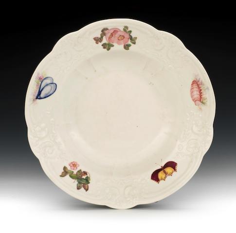 A rare Nantgarw deep plate, circa 1818-20