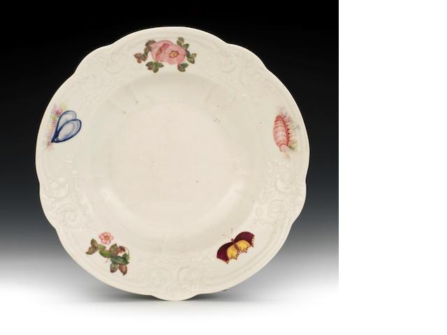 A rare Nantgarw deep plate