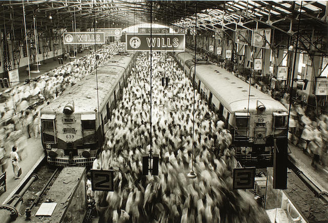 Sebastião Salgado (Brazilian, born 1944) Church Gate Station, Bombay, 1995