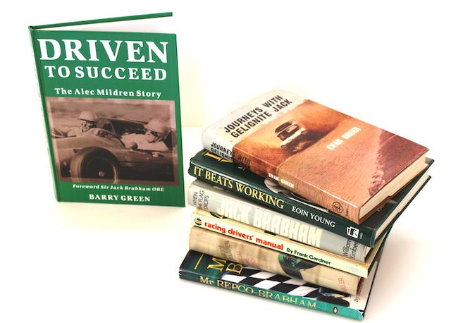 A collection of books relating to Motor Racing Drivers