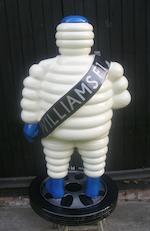 A hand-painted 'Mr Bibendum' standing forecourt figure,
