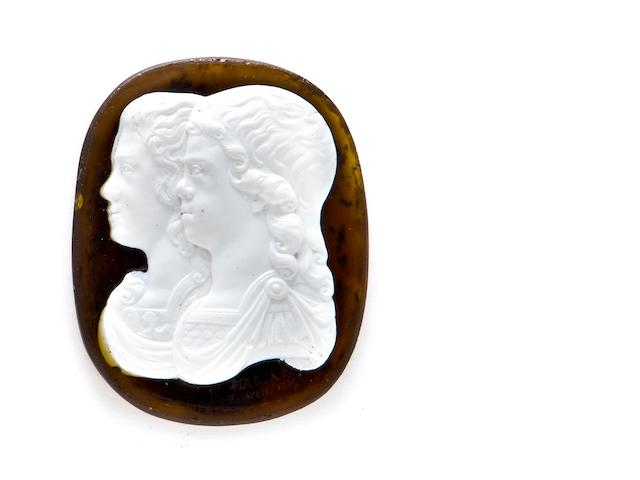 One cameo silhouette portrait attributed to Empress Maria Fedorovna (1759-1828), St Petersburg, 1790