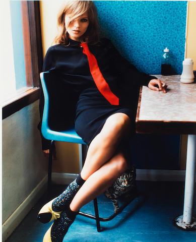 Mario Testino (Peruvian/Italian, born 1954) Kate Moss in Blue Café, 2005