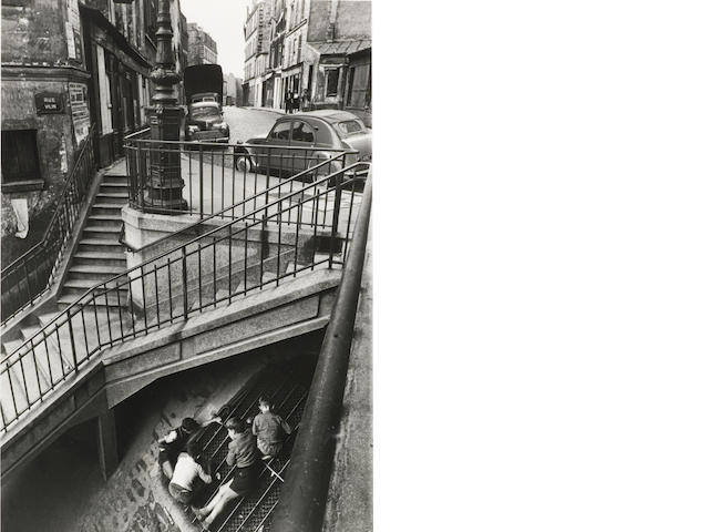 Willy Ronis (French, 1910-2009) Rue Vilin, Paris, 1959 Paper 40.4 x 30.5cm (15 7/8 x 12in), image 30.6 x 21cm (12 x 8 1/4in).