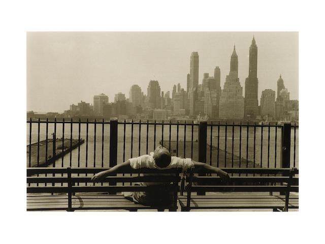 Louis Stettner (American, born 1922) Promenade, New York, 1954 Paper 27.8 x 35.5cm (10 15/16 x 14in), image 19.6 x 29.7cm (7 3/4 x 11 11/16in).