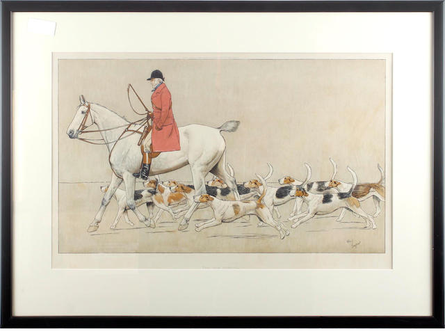 Cecil Charles Windsor Aldin, RBA (British, 1870-1935) The Cottesmore Hunt