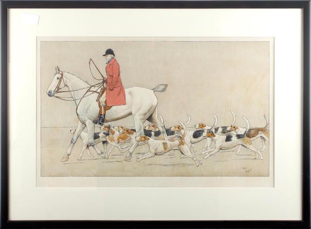 Cecil Charles Windsor Aldin, RBA (British, 1870-1935) The Cottesmore Hunt