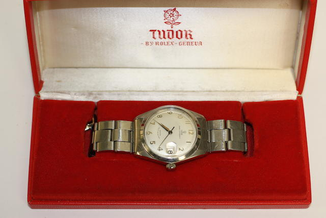 A Tudor Prince-Oyster date gents stainless steel wristwatch with box and original guarantee book