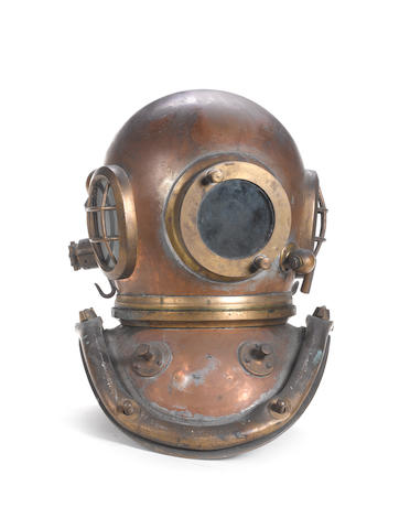 A 6 bolt Divers Helmet, 18in (46cm)high.