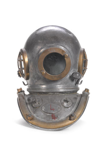 A 6 bolt Diver's Helmet, 18in (46cm)high.