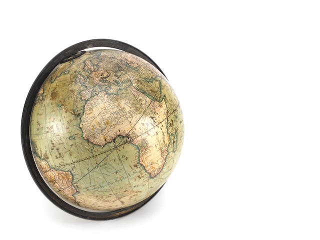 A J & W Cary 12-inch terrestrial globe,  English,  published 1812,