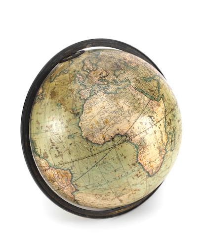 A J & W Cary 12-inch terrestrial globe,  English,  published 1812,