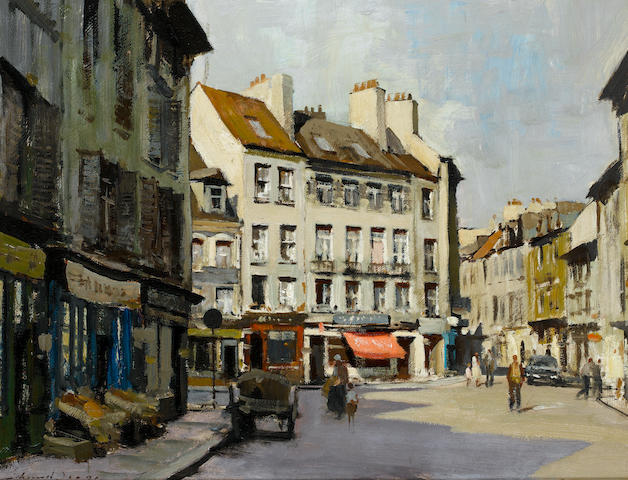 Edward Seago R.W.S. (British, 1910-1974) Saint Germain-en-Laye 55 x 70.5 cm. (21 3/4 x 27 3/4 in.)