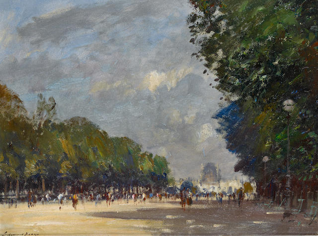 Edward Seago R.W.S. (British, 1910-1974) The Centre Walk, Tuileries Gardens, Paris 51 x 66 cm. (20 x 26 in.)