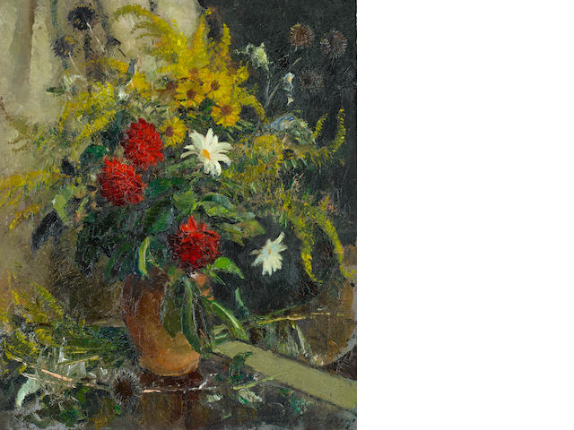 Edward Seago R.W.S. (British, 1910-1974) Autumn Flowers 61 x 51 cm. (24 x 20 in.)