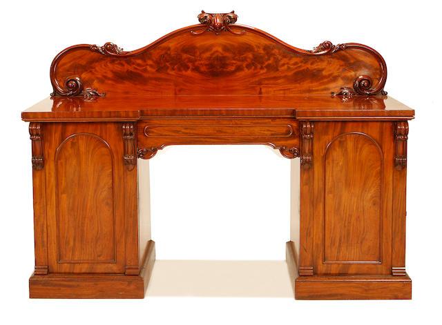 A mid Victorian mahogany sideboard