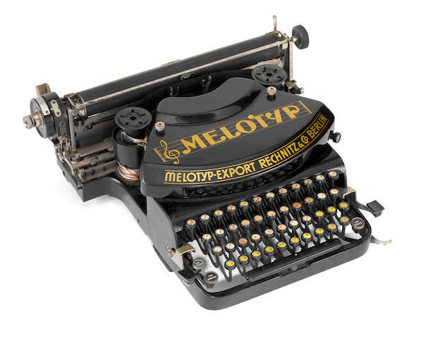 A very scarce Melotpe-Export musical score typewriter, 1937,