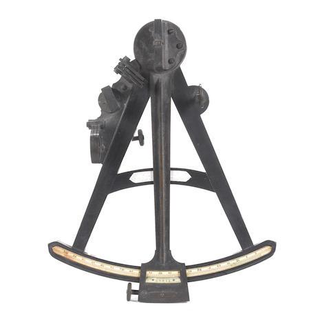 An early 19th century 10in.(25cm) radius ebony octant.