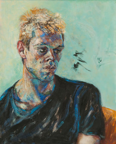 Maggi Hambling (British, born 1945) Portrait of young man
