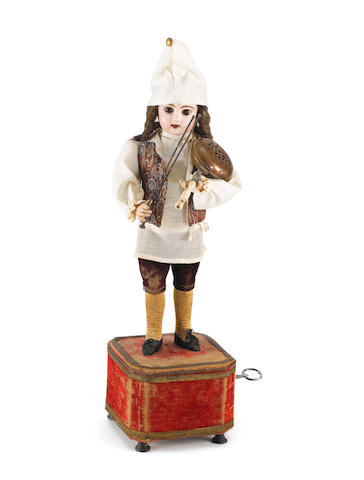 A musical automaton of a girl, by Roulett & Decamps, circa 1890,