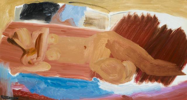 Ivon Hitchens (British, 1893-1979) Variations on a Theme 41 x 74.3 cm. (16 x 29 1/4 in.)