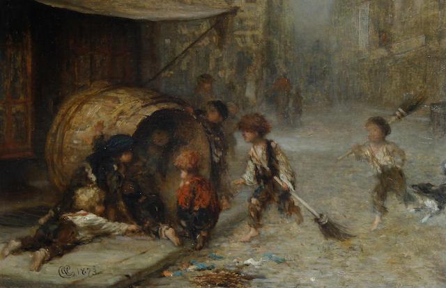 Albert Ludovici, Jnr., RBA (British, 1852-1932) Street urchins