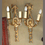 A pair of gilt-wood wall brackets