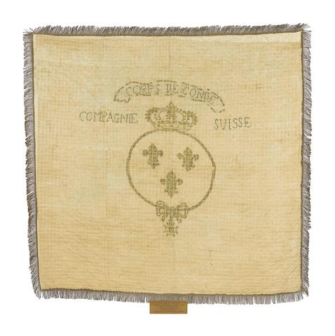 An Extremely Rare French Royalist Revolutionary Period Banner Of The Swiss Company Of The Corps Of The Prince de Condé