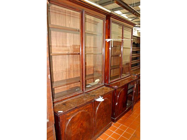 Two similar Victorian mahogany tall bookcases