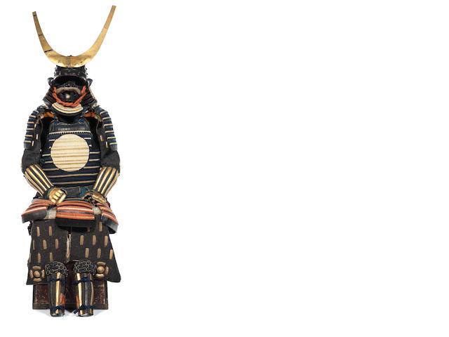 A ni mai mongara odoshi tachi do tosei gusoku armour Mid Edo Period, late 18th century