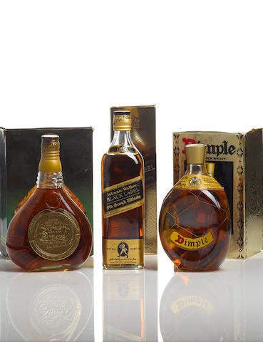 Johnnie Walker Swing (1)Johnnie Walker Black Label (1)Dimple Old Blended-Bottled 1980s (1)