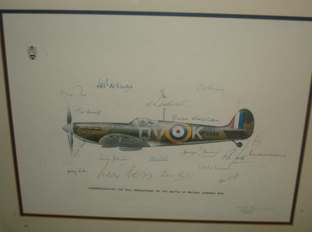 A signed 'Battle of Britain' 40th Anniversary print,