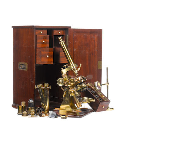 A fine Andrew Ross compound monocular/binocular microscope,  English,  circa 1860,