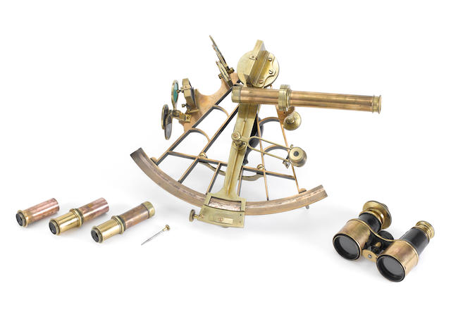 A Henry Hughes brass sextant, English, third quarter of the 19th century,