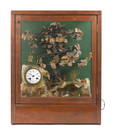 A singing bird-jumper timepiece automaton, by Bontems, circa 1885,