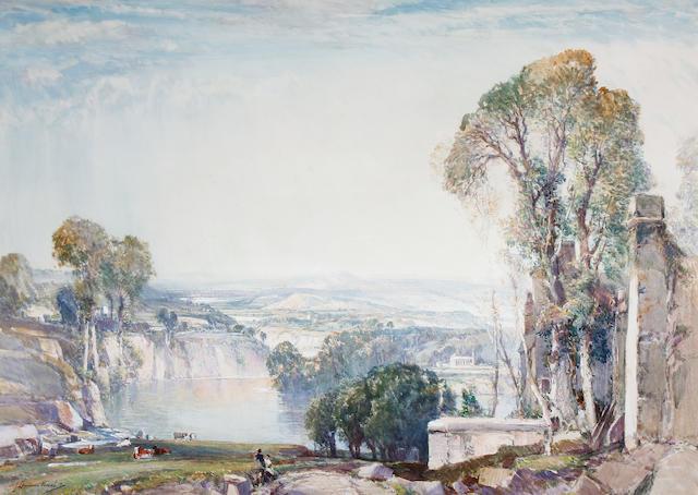 Samuel John Lamorna Birch, R.A., R.W.S., R.W.A. (British, 1869-1955) Arcadian landscape