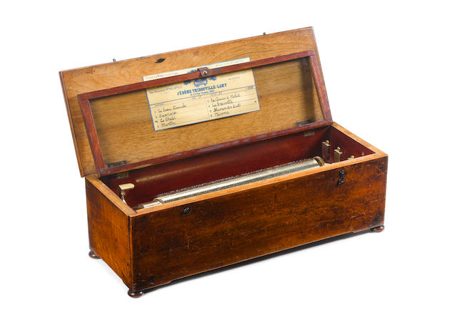 An early musical box, by L'Epeé, circa 1857,