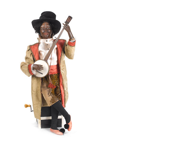 A good 'Negro Banjo-Player' musical automaton, by G. Vichy, circa 1890,