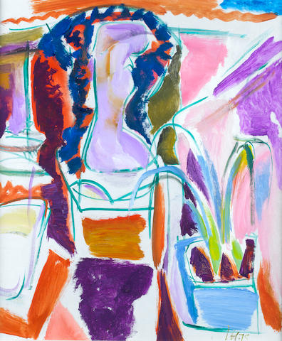 Ivon Hitchens (British, 1893-1979) Four Studies for a Sibyline Courtyard, No.2 61 x 50.8 cm. (24 x 20 in.)