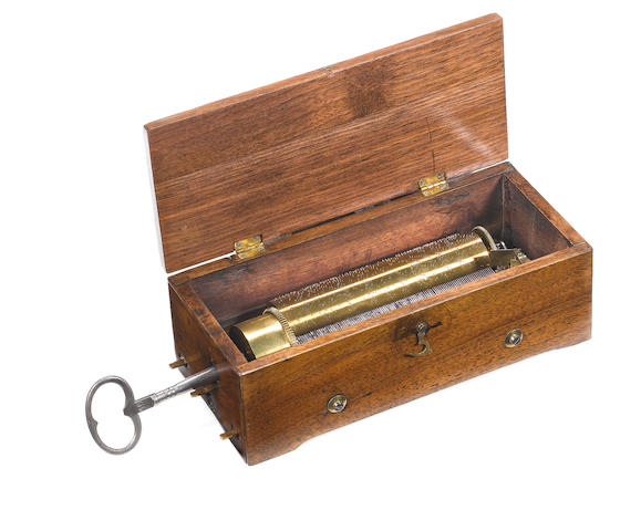 A good small early key-wind musical box playing three airs, by Frères Nicole, circa 1827,